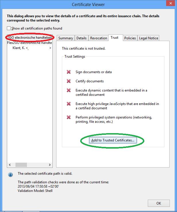 root certificaat installeren